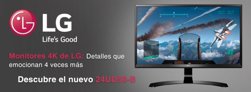 Descubre el nuevo 24UD58-B, el monitor 4K con la máxima resolución y en 24''