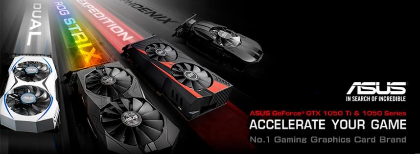 Conoce las nuevas series de tarjetas gráficas equipadas con GPU NVIDIA GeForce GTX 1050 de ASUS