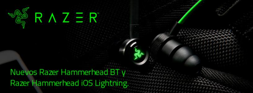 Razer anuncia la nueva línea de auriculares Razer Hammerhead con modelos Bluetooth e iOS