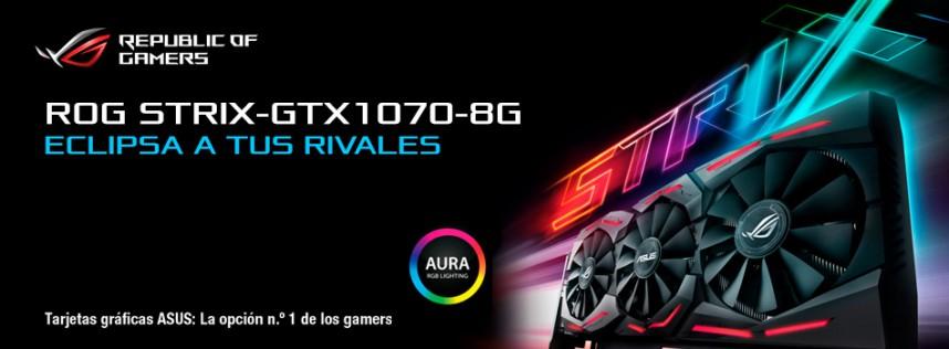ASUS ROG STRIX GTX 1070, experiencia gaming de realidad virtual inmersiva