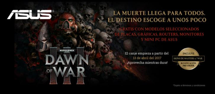Aprovecha la promoción Dawn of War III de ASUS