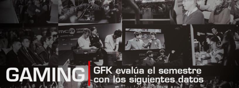 GFK evalúa el semestre con los siguientes datos referentes al gaming