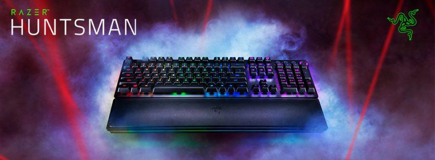 El teclado Razer Huntsman ofrece un rendimiento a la velocidad de la luz con su nueva tecnología de switches.