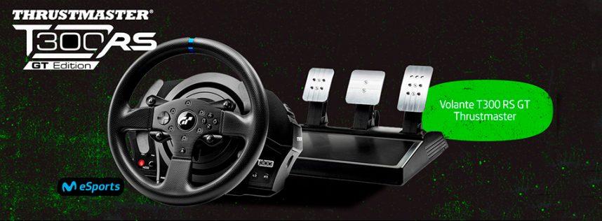 Ya tenemos ganador del sorteo de Movistar eSports del volante T300RS GT Edition de Thrustmaster.