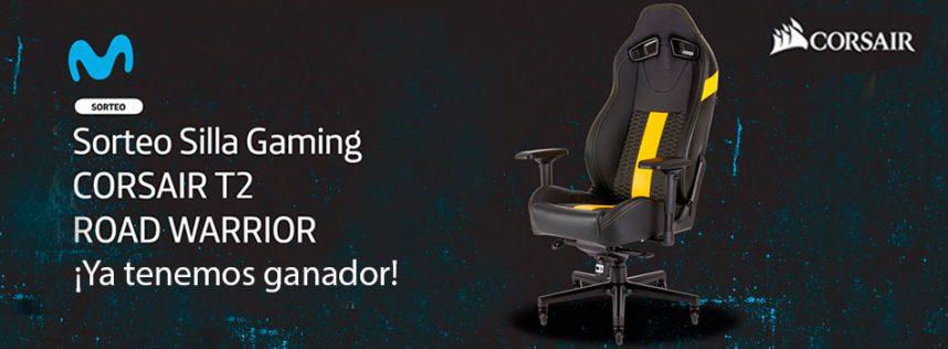 Ya tenemos ganador del sorteo de Movistar eSports de la silla CORSAIR Gaming T2 Road Warrior