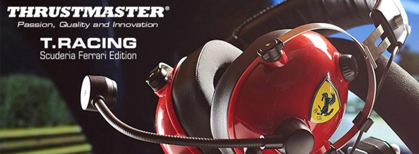 T.Racing Scuderia Ferrari Edition — Los auriculares de gaming multiplataforma inspirados en los paddocks reales de la Scuderia Ferrari.
