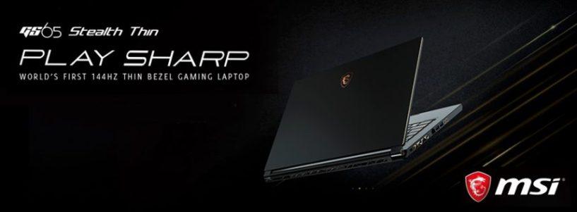 MSI GS65 STEALTH THIN 8RF-251ES: el primer portátil gaming de bisel delgado de 144HZ del mundo