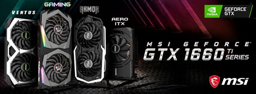 MSI anuncia las nuevas tarjetas gráficas GeForce® GTX 1660 Ti