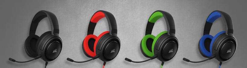 Haga del audio su aliado. CORSAIR lanza los auriculares estéreo HS35 para juegos.