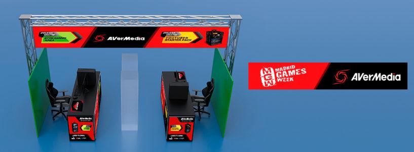 AVerMedia contará con una STREAMING ZONE en Madrid Games Week (03 – 06 de octubre)
