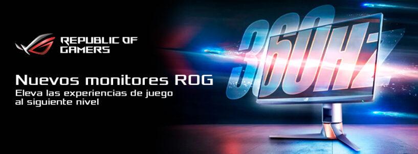 La nueva línea de monitores ROG eleva las experiencias de juego al siguiente nivel