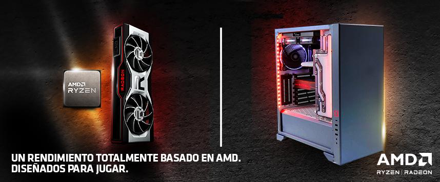 AMD Ryzen™ y AMD Radeon™. Diseñados para jugar.