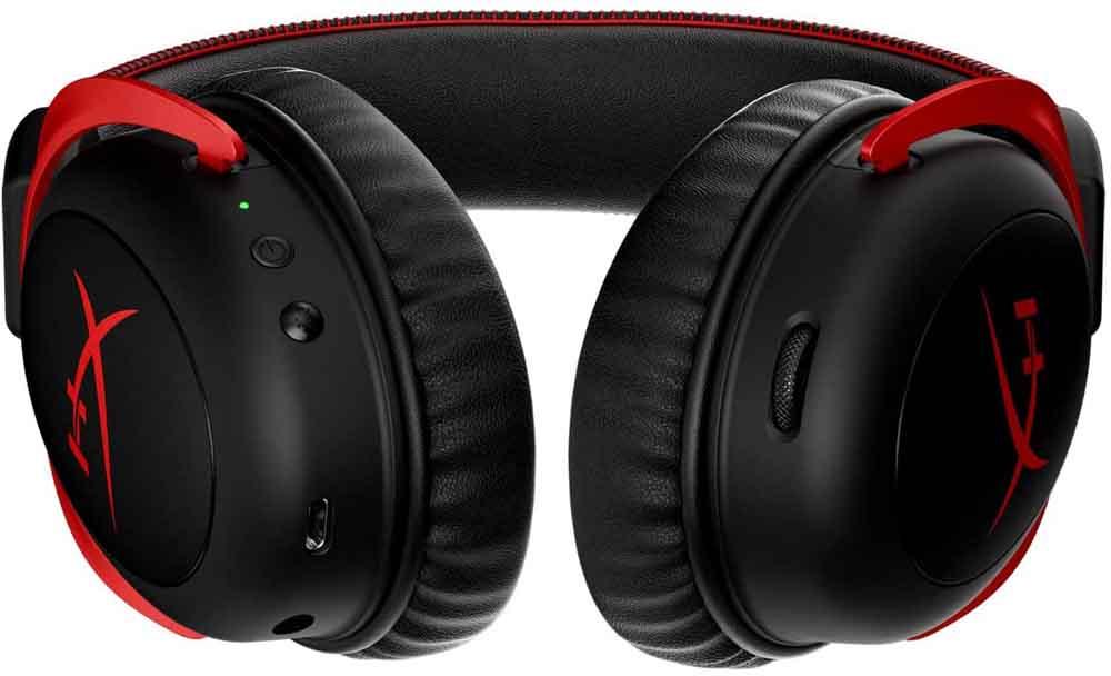 Botones de los auriculares Cloud II Wireless