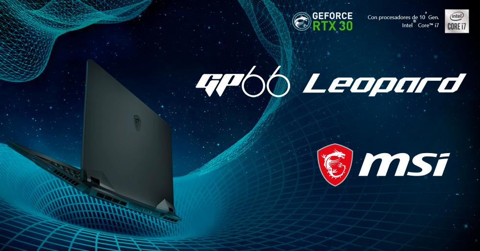 MSI GP66 Leopard de 10 Gen y serie RTX 30